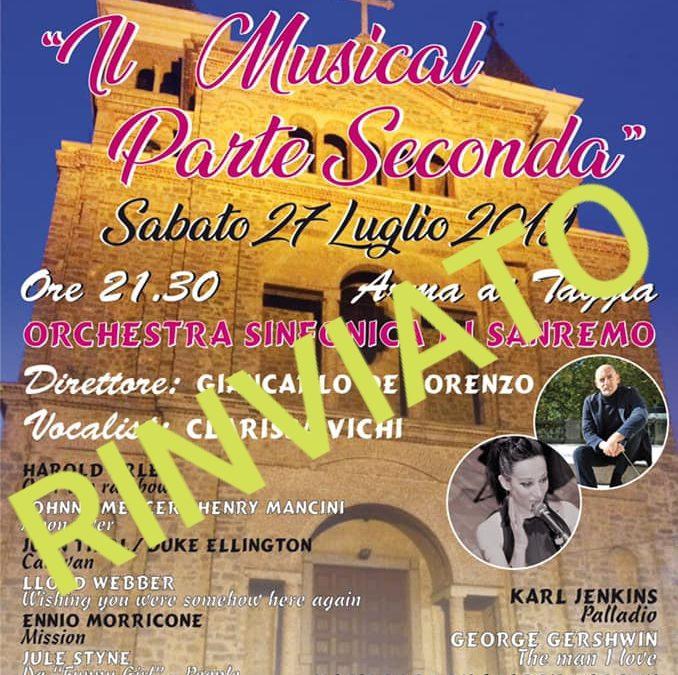 Concerto Orchestra Sinfonica di Sanremo – Festeggiamenti in onore di Sant'Erasmo