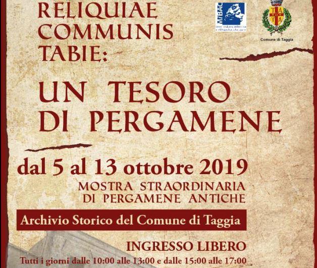 """""""Reliquiae Communis Tabie: Un tesoro di pergamene"""""""