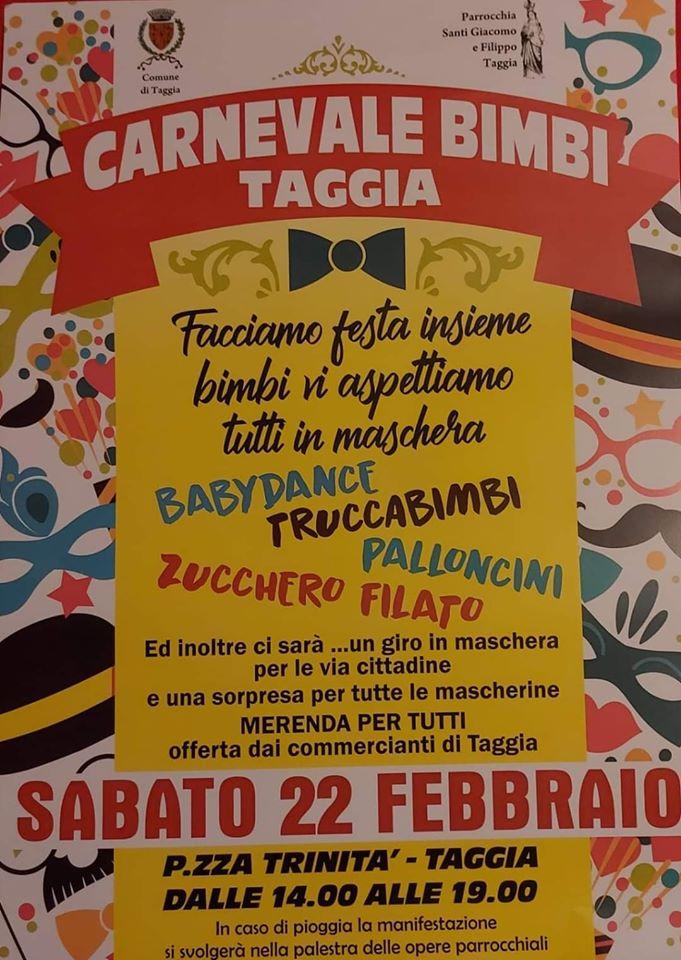 Locandina Carnevale Taggia